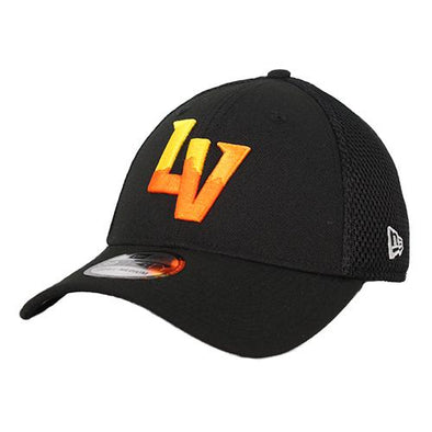 Las Vegas Aviators New Era LV Neo Black 39Thirty Stretch Fit Hat