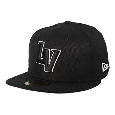 Las Vegas Aviators New Era LV Black/White Outline 59Fifty Wool Fitted Hat
