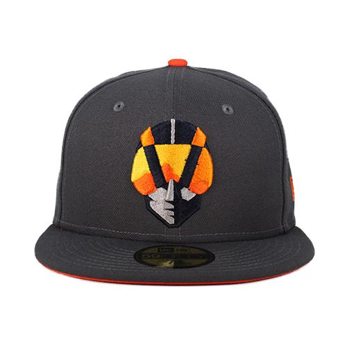 Las Vegas Aviators New Era Aviator Graphite/Orange 59Fifty Fitted Hat