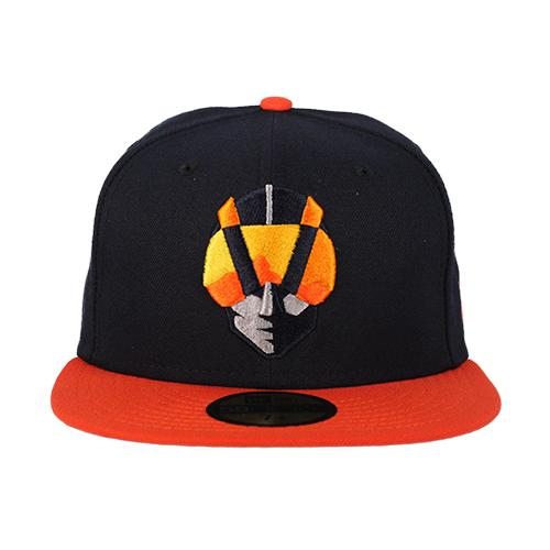 Las Vegas Aviators New Era Aviator Navy/Orange 59Fifty Fitted Hat