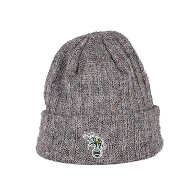 Oakland Athletics New Era Gray Throwback Patch Knit Beanie