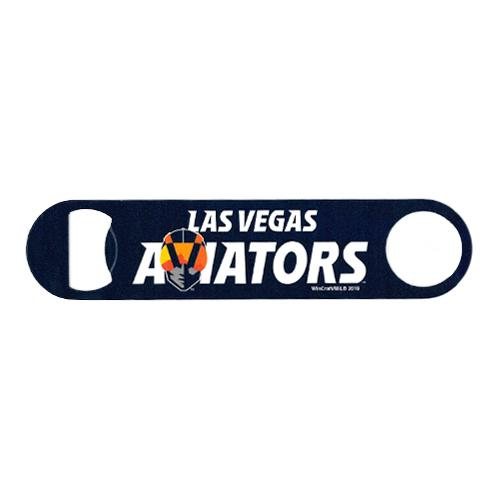 "Las Vegas Aviators Wincraft Wordmark Navy/Gold 7"" Steel Bottle Opener"