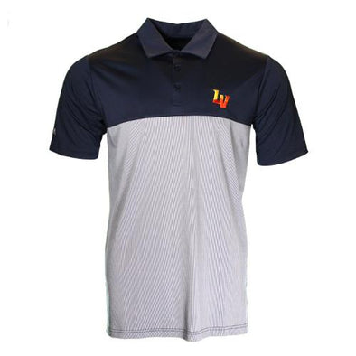 Men's Las Vegas Aviators Antigua LV Venture Navy/White Short Sleeve Polo