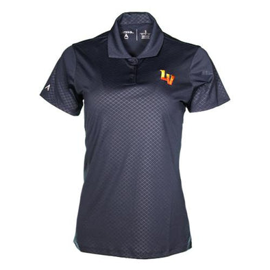 Women's Las Vegas Aviators Antigua LV Inspire Navy Short Sleeve Polo