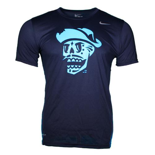 Men's Las Vegas Reyes de Plata Nike Fluorescent Skull Navy Dri-Fit Short Sleeve T-Shirt