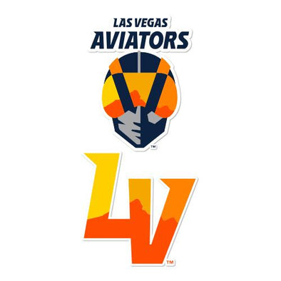 Las Vegas Aviators Wincraft Primary Logo LV 2-Pack Decal
