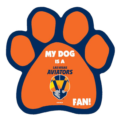 Pets' Las Vegas Aviators All Star Dogs Orange Paw Magnet