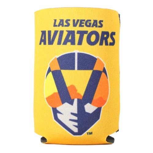 Las Vegas Aviators Wincraft Primary Logo LV Yellow/Navy Can Cooler