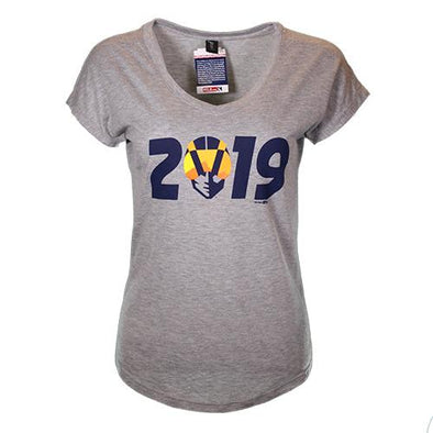 Women's Las Vegas Aviators Anvil Aviator 2019 Gray Tri-Blend Short Sleeve T-Shirt