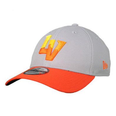 Las Vegas Aviators New Era LV Gray/Orange 9Forty Velcroback Hat