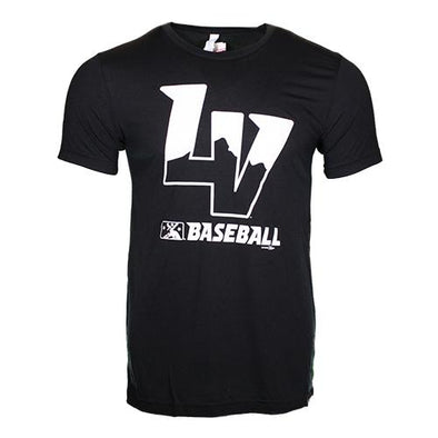 Men's Las Vegas Aviators Bella Canvas LV MiLB Baseball Black/White Tri-Blend Short Sleeve T-Shirt
