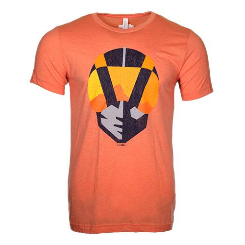 Men's Las Vegas Aviators Bella Canvas Aviator XL Distressed Orange Tri-Blend Short Sleeve T-Shirt