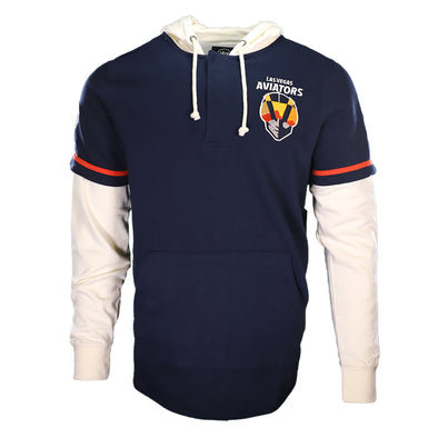 Men's Las Vegas Aviators '47 Brand Primary Logo Shortstop Navy/Cream Pullover