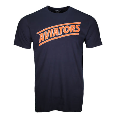 Men's Las Vegas Aviators '47 Brand Aviators Diagonal Fieldhouse Navy Short Sleeve T-Shirt