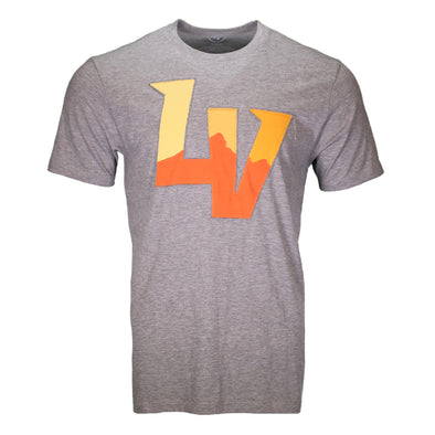 Men's Las Vegas Aviators '47 Brand Knockout Fieldhouse LV Gray Short Sleeve T-Shirt