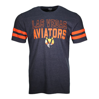 Men's Las Vegas Aviators '47 Brand LVA Aviator Battery Navy Varsity Short Sleeve T-Shirt