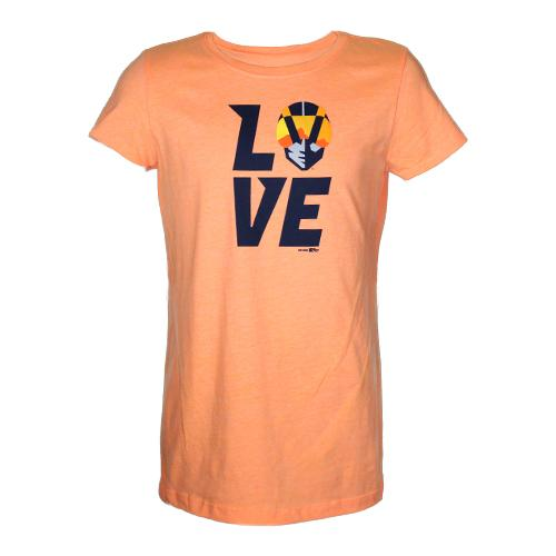 Girls' Las Vegas Aviators Next Level Apparel Love Aviator Orange Short Sleeve T-Shirt