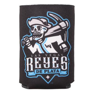 Las Vegas Reyes de Plata Wincraft Primary Logo Lettering Black/Blue 2-Sided Can Cooler