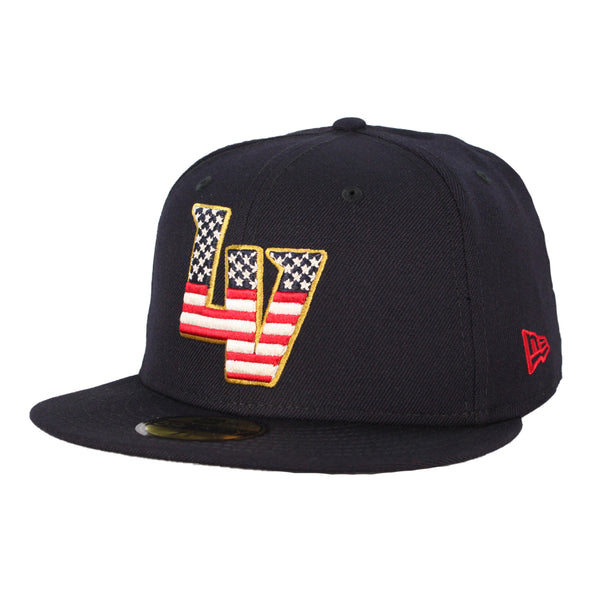 Las Vegas Aviators New Era LV Navy Stars & Stripes 59Fifty Fitted Hat