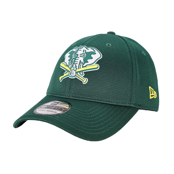 Oakland Athletics New Era 2020 On-Field Clubhouse Green 39Thirty Stretch Fit Hat