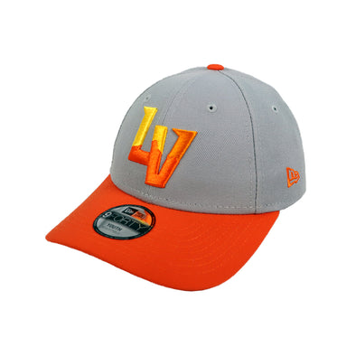 Kids' Las Vegas Aviators New Era Alternate Gray/Orange 9Forty Velcroback Hat
