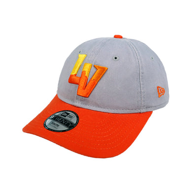 Kids' Las Vegas Aviators New Era Alternate Gray/Orange 9Twenty Strapback Hat