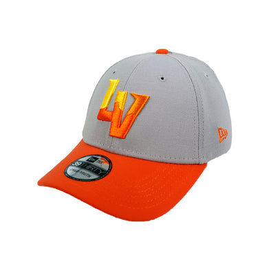 Kids' Las Vegas Aviators New Era Alternate Gray/Orange 39Thirty Stretch Fit Hat