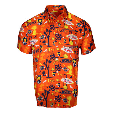 Men's Las Vegas Aviators FOCO LVA City Style Orange Button Up Shirt