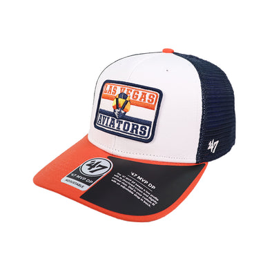 Las Vegas Aviators '47 Brand LVA Evoke Navy/White/Orange MVP Snapback Hat
