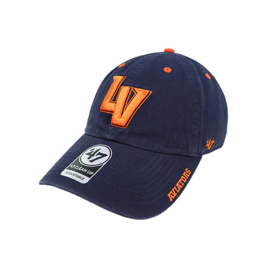 Las Vegas Aviators '47 Brand LV Ice Navy Clean Up Strapback Hat
