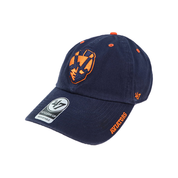 Las Vegas Aviators '47 Brand Aviator Ice Navy Clean Up Strapback Hat