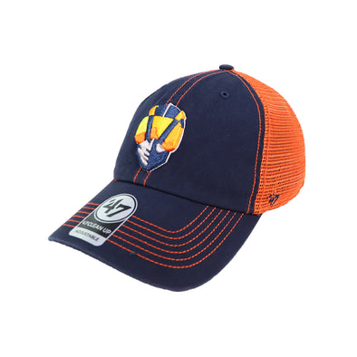 Las Vegas Aviators '47 Brand Aviator Trawler Orange/Navy Clean Up Snapback Hat
