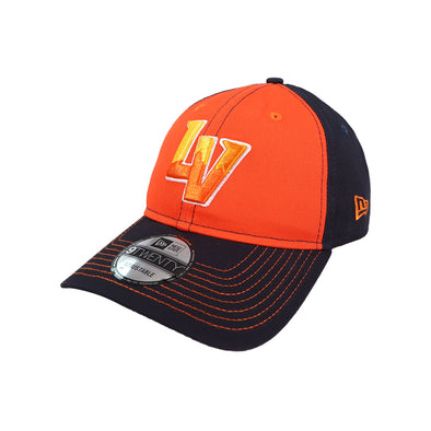 Las Vegas Aviators New Era LV Clutch Navy/Orange 9Twenty Strapback Hat