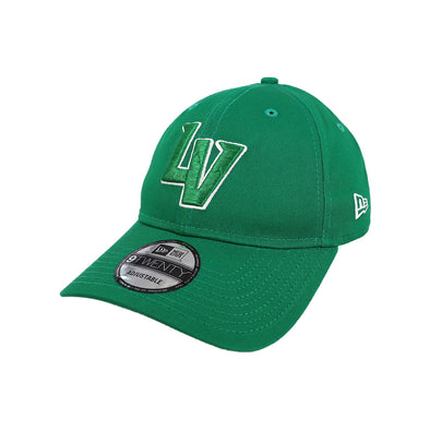 Las Vegas Aviators New Era LV Clutch Kelly Green/White 9Twenty Strapback Hat