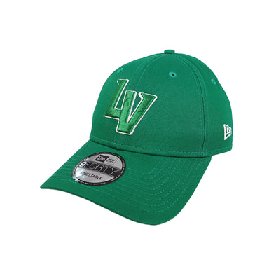 Las Vegas Aviators New Era LV Clutch Kelly Green/White 9Forty Snapback Hat