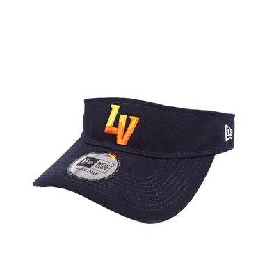Las Vegas Aviators New Era LV Clutch Navy Velcroback Visor Hat