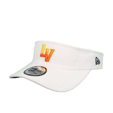 Las Vegas Aviators New Era LV Clutch White Velcroback Visor Hat