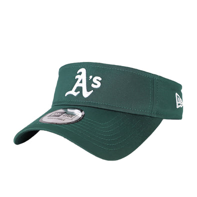 Oakland Athletics New Era A's 2018 Clubhouse Green Velcroback Visor Hat