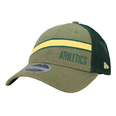 Oakland Athletics New Era Athletics Trucker Scale Green 9Twenty Snapback Hat