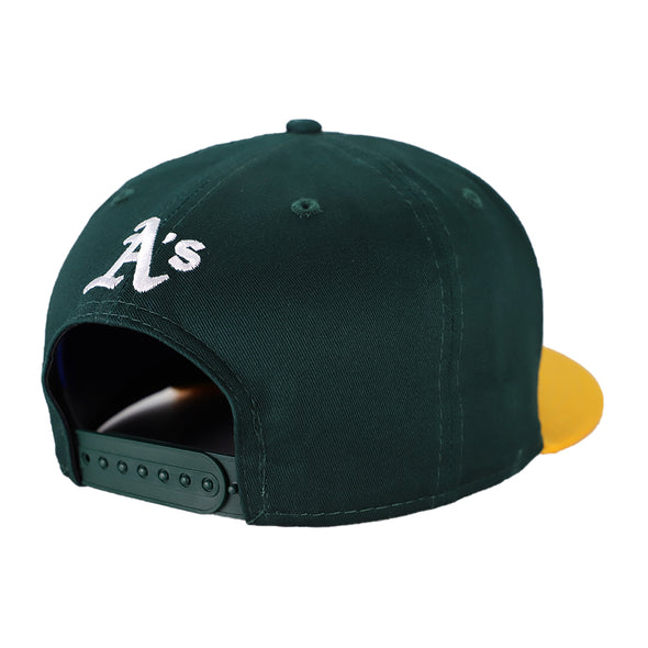 Women's Oakland Athletics New Era Get Fancy Sequin Green/Yellow 9Fifty Snapback Hat