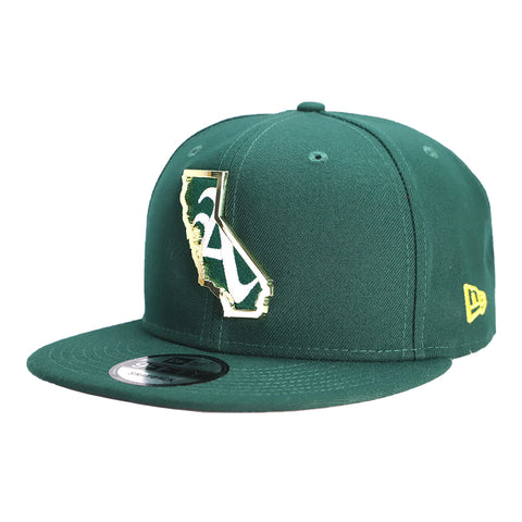 Oakland Athletics New Era A's State Outline Green 9Fifty Snapback Hat