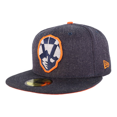 Las Vegas Aviators New Era Aviator Heather B1 Gray/Orange 59Fifty Fitted Hat