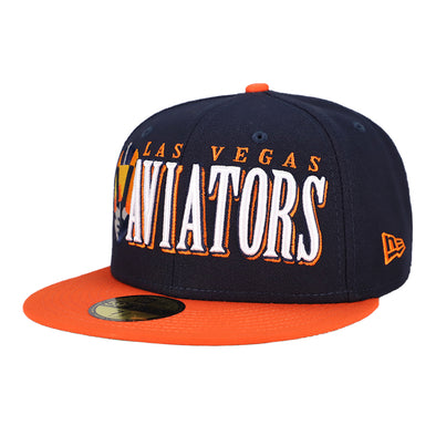 Las Vegas Aviators New Era LVA Jumbo Navy/Orange 59Fifty Fitted Hat