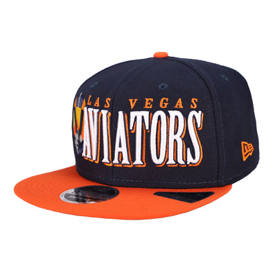 Las Vegas Aviators New Era LVA Jumbo Navy/Orange 9Fifty Snapback Hat
