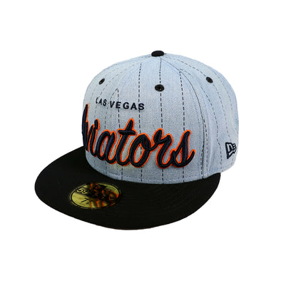 Las Vegas Aviators New Era LVA Denim Hit Blue/Navy 59Fifty Hat