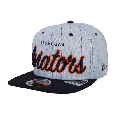 Las Vegas Aviators New Era LVA Denim Hit Blue/Navy 9Fifty Snapback Hat