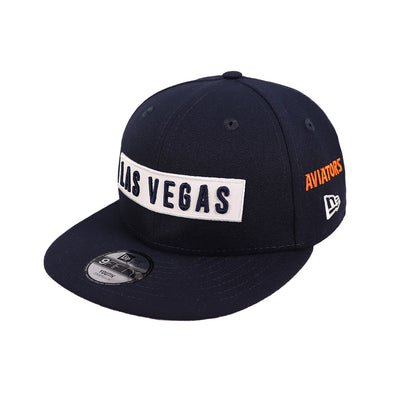 Kids' Las Vegas Aviators New Era Las Vegas Multi Navy 9Fifty Snapback Hat