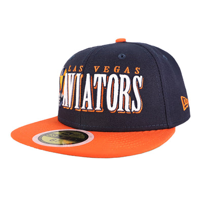Kids' Las Vegas Aviators New Era LVA Jumbo Navy/Orange 59Fifty Fitted Hat
