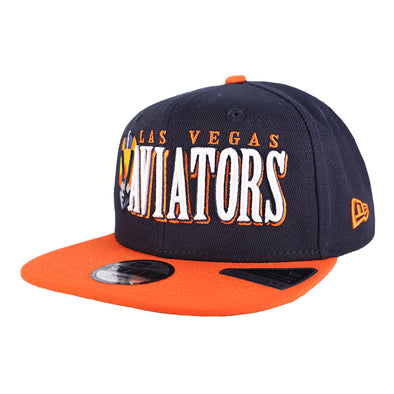 Kids' Las Vegas Aviators New Era LVA Jumbo B1 Navy/Orange 9Fifty Snapback Hat