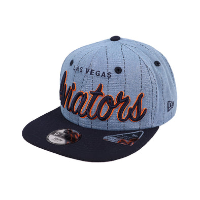 Kids' Las Vegas Aviators New Era LVA Denim Hit Blue/Navy 9Fifty Snapback Hat